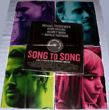 SONG TO SONG Ryan Gosling  Rooney Mara Fassbender Portman LARGE French POSTER