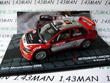 coche 1/43 IXO Altaya Italia : MITSUBISHI Lancer WRC Panizzi Monte Carlo 2005