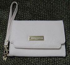 Hanae Mori Paris Faux Leather Evening Clutch Bag Wristlet Purse Cosmetic Case