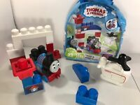 Thomas The Tank & Harold Rescue Mega Bloks Building 23 Piece Bag Set Red Blue