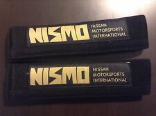 Nissan Nismo Seat Belt Pads Pair Black Gold