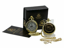 SIGNED GEORGE MICHAEL 24k Gold Clad Pocket Watch Luxury Gift Case Autographed