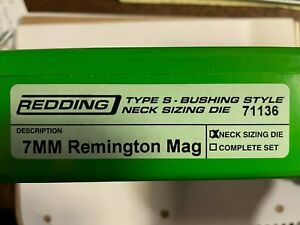 Redding Type S Neck Sizing Die 7mm Remington Magnum
