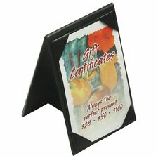 Black Plastic Economy Double-Sided Table Tent Sign Holder With Protective Cover