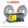 BOSCH Bremsscheiben  + BOSCH Bremsbeläge vorne AUDI A4  280x22mm   PR-Code: 1LZ