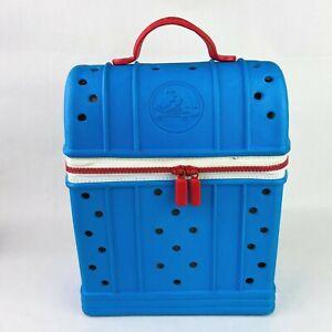 Crocs Ziptop Blue Red Straps Zipper Mini Backpack Kids Boys Girls School Prep