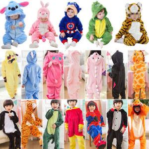 Kids Costume Fancy Dress Cosplay Onsie10 Child Unisex Hooded Animal Pajamas YN