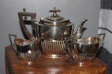 ANTIQUE WALKER & HALL SHEFFIELD SILVER -PLATED TEA SERVICE NO. 53288