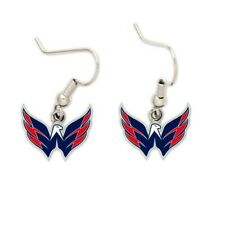 WASHINGTON CAPITALS DANGLE EARRINGS NHL SERIES 2 WITH TEAM LOGO NHL Licensed