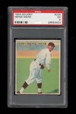 """1933 Goudey BB #205 Henry """"Heinie"""" Meine Pittsburgh Pirates PSA EX 5 !!"""
