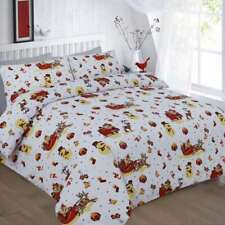 Christmas Santa Noel Print Duvet Quilt Cover Bedding Set & Pillowcases