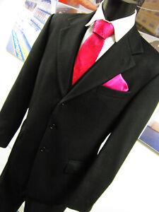 Uomolebole 3 Button front 100% Cashmere Black jacket UK 44 EU 54 Regular