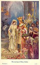 El matrimonio del rey Arturo por Lancelot velocidad 7x4 pulgadas impresión