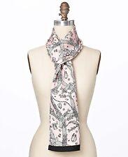 Ann Taylor Jewels Print Oblong Silk Scarf, NWT