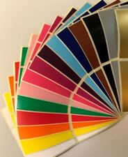 Large 30 x 78mm - Assorted Pack Colour Code Rectangles Sticky Filing Labels