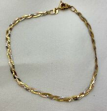 14k Gold Triple Strand Yellow White Rose Gold Bracelet Necklace Extension
