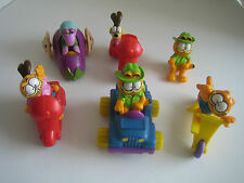 8 Piece Lot of McDonald's Garfield Toys + 1 Fragle Rock Toy