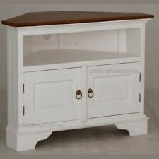Corner TV Cabinet, White TV Stand, Corner Entertainment Unit,Timber, Corner Unit