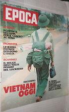 EPOCA 3 marzo 1976 Reportage Vietnam Scandalo Belice Crociani Tumore al Seno di