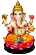 "Ganesha Statue 6"" Young Ganesh or Bala Ganapati seated on a Lotus Flower (Y73)"