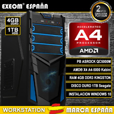 ORDENADOR DE SOBREMESA PC AMD A4 QUAD CORE 6.0GHZ 4GB 1TB RADEON HD8330 2GB HDMI