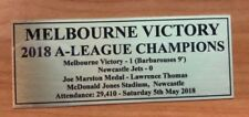 Melbourne Victory 2018 Champions Sublimation Plaque