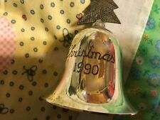 Christmas Bell 1990 International Silver Company with Box Silverplated Lot#0199