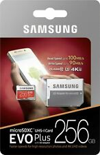 Samsung Evo Plus 256GB Micro SD Memory Card Class 10 with Adapter