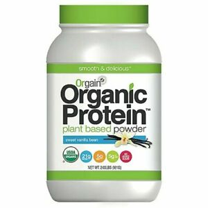 Orgain Organic Plant Based Protein Powder, Vanilla Bean 2.03 LB FREE SHIPPING