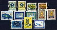 UN - New York . 1963 Year Set (114-122, C8-10) . 12 stamps . Mint Never Hinged