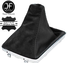 BLACK LEATHER & BLACK SUEDE GEAR GAITER FOR VAUXHALL OPEL ASTRA MK5 H 2005-2010