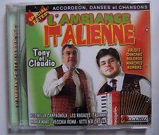 ) C3- TONY ET CLAUDIO - L'AMBIANCE ITALENNE vol. 1 accordéon, danses, chansons