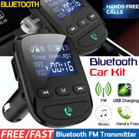 BT06 LCD Bluetooth FM Transmitter Wireless Car Kit MP3 Player QC3.0 USB Charger