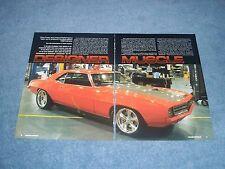 """1969 Camaro Custom Foose Unique Performance Article """"Designer Muscle"""""""