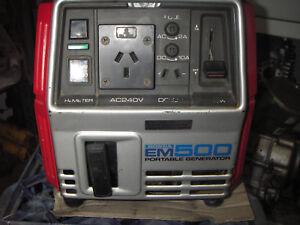Honda Portable Petrol Generator EM500 4stroke cash pickup or buyers own freight*