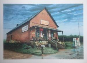 THE LOST MOUNTAIN STORE-- POWDER SPRINGS, GA BY: CLINTON SCOTT 14 X 20 SIGNED