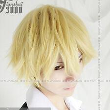 DuRaRaRa Shizuo Heiwajima Short Gold Cosplay Wig