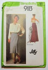 1979 Simplicity 9113 Sewing PATTERN Misses Jiffy Front-Wrap Skirt in Two Lengths
