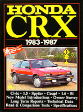 Book of 26 articles on Honda CRX 1983 1984 1985 1986 1987 Magazine Stories