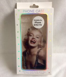 Marilyn Monroe iPhone Back Case Cover Gold Glitter Fits Apple IPhone 6 6s 7 8