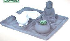 Feng Shui  Zen Garden-Set Jade Temple Buddha Figur Kerze Vogel Sand Harke Deko