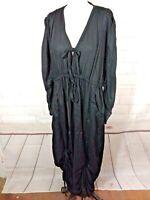 Lotus traders M Black Dress loose fit art to wear