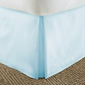Pleated Bed Skirt Dust Ruffle by Soft Essentials - 14 Inch Drop