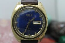 Vintage Seiko Automatic Gold Tone DX 17j Day/Date Men's Wrist Watch Running