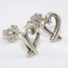 Tiffany & Co. Paloma Picasso Sterling Silver Loving Heart Post Stud  roger