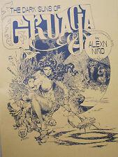 Alex Nino Portafoglio Dark Sun of gruaga 10 B/W stampe 1978 SIGNED FIRMATO *