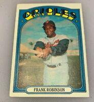 1972 Topps Baseball Card Frank Robinson # 100 HOF