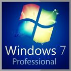 WINDOWS 7 PRO 32 / 64BIT SP1 GENUINE LICENSE KEY SCRAP PC