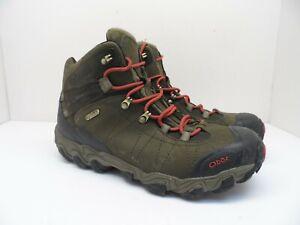 Oboz Men's Bridger Mid Waterproof Hiking Boots Green Olive Size 11.5M