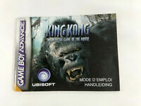 Notice Game Boy Advance VF  King Kong  AGB-BKQP-FAH